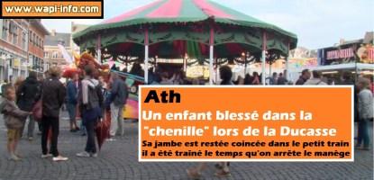 """Ath : un enfant blessé dans le manège de la """"chenille"""" lors de la Ducasse"""