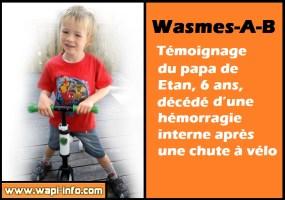 Wasmes-A-B : témoignage du papa de Etan, 6 ans, décédé  d'une hémorragie interne après une chute à vélo