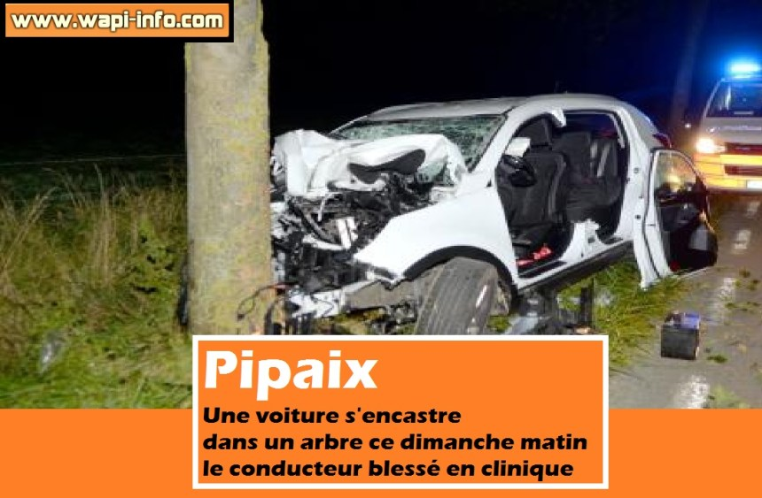 Pipaix accident dimanche 27 septembre