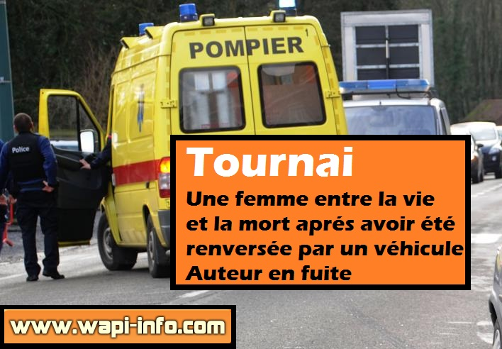 Tournai renversee conducteur en fuite