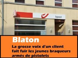 Blaton : la grosse voix d'un client fait fuir les jeunes braqueurs armés de pistolets