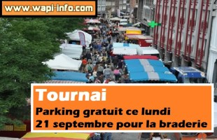 Tournai : parking gratuit ce lundi 21 septembre pour la braderie