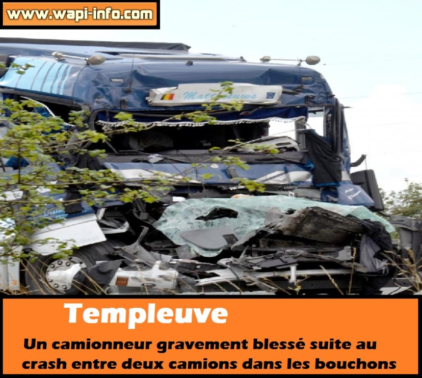 templeuve accident camion