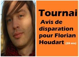 Tournai : avis de disparation pour Florian Houdart (28 ans)