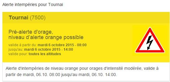 Tournai alerte