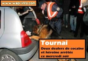 Tournai : deux dealers de cocaïne et héroïne arrêtés ce mercredi soir
