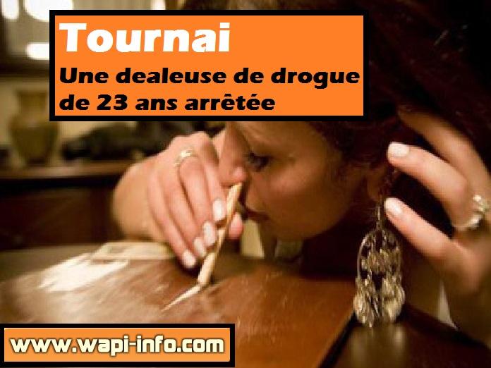 Tournai dealeuse drogue