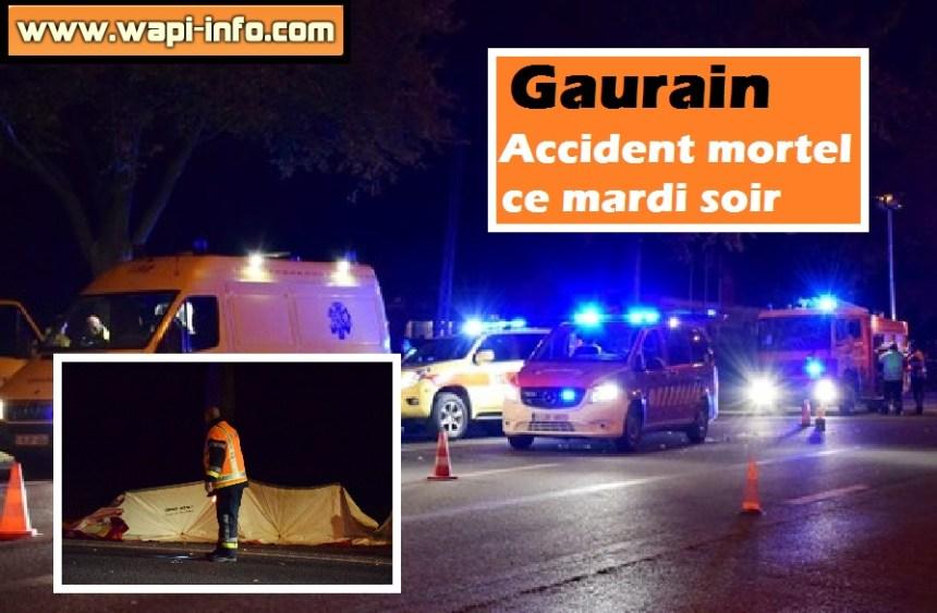 accident mortel  mardi 27 octobre 2015