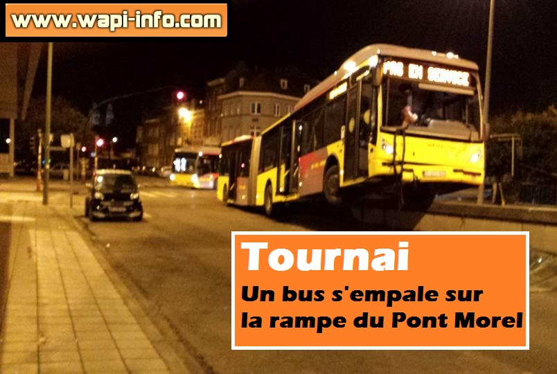 bus pont morel tournai accident