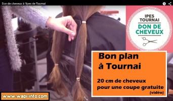 Bon plan à Tournai : 20 cm de cheveux pour une coupe gratuite (vidéo)