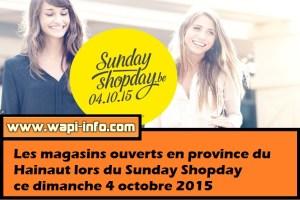 Des magasins ouverts en province du Hainaut lors du Sunday Shopday