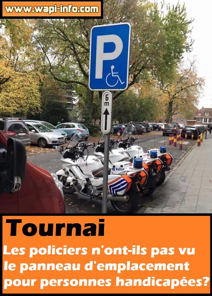 police tournai incivilite handicap