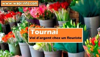 Tournai : vol d'argent chez un fleuriste