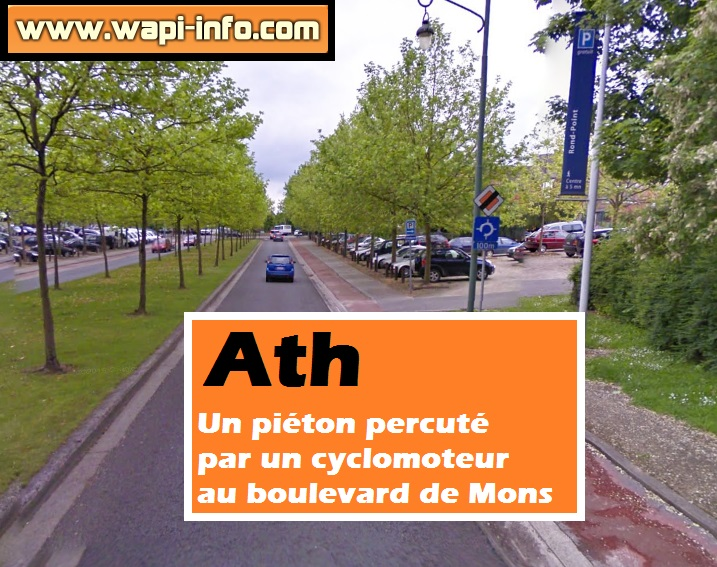 Ath accident pieton cyclomoteur