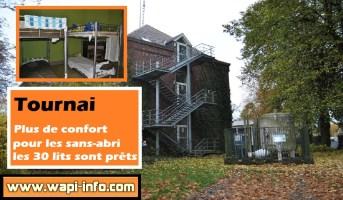 Tournai : plus de confort pour les sans-abri les 30 lits sont prêts