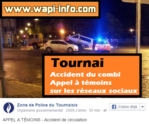 appel temoin accident combi tournai