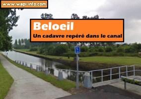 Beloeil : un cadavre dans le canal
