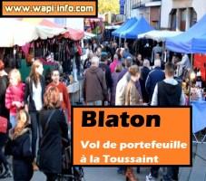 Blaton : vol de portefeuille à la Toussaint