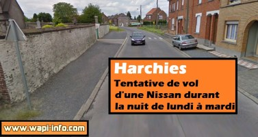 Harchies : tentative de vol d'une Nissan