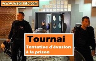 Tournai : tentative d'évasion à la prison par le feu