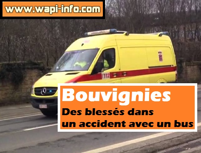 Bouvignies blessés accident bus