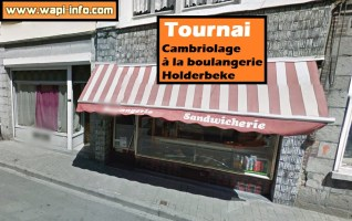 Tournai : cambriolage à la boulangerie Holderbeke