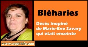 Bléharies : décès inopiné de Marie-Eve Savary qui était enceinte
