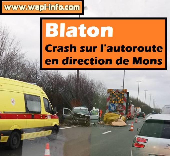 Blaton crash autoroute