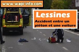 Lessines : accident entre un piéton et une voiture