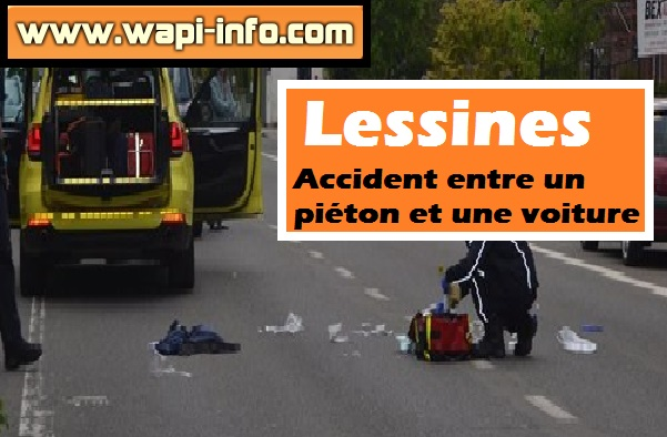 Lessines accident voiture pieton