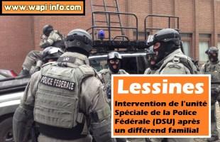 Lessines : intervention de l'unité Spéciale de la Police Fédérale (DSU) après un différend familial