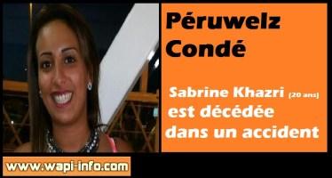 Péruwelz - Condé : Sabine Khazri (20 ans) est décédée dans un accident