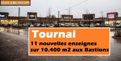 Tournai : 11 nouvelles enseignes sur 10.400 m2 aux Bastions