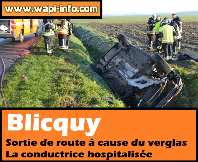 accident blicquy verglas
