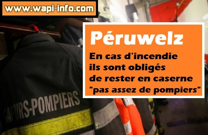 pompiers peruwelz manque personnel