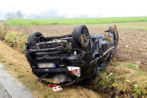 Maulde : voiture sur le toit - conducteur blessé
