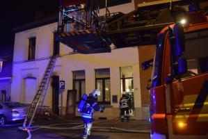 Tournai : incendie d'un immeuble à la rue Crespel