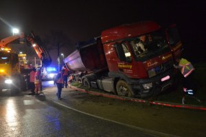 Ollignies : un camion bien mal embarqué