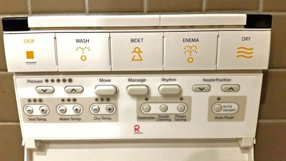 Japanese toilet control