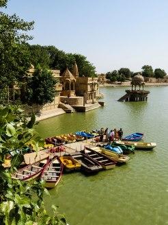 Gadi Sagar Lake, Jaisalmer, India