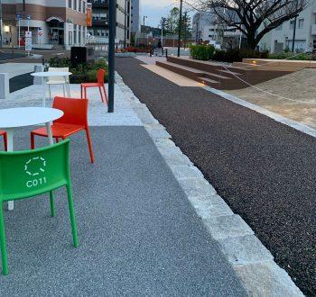 中央緑道完成。桜城橋から籠田公園まできれいに。