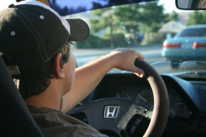 driver on the wheel