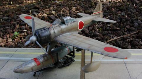 Maquette Davion De Nakajima A6M2 Rufe Modle 173