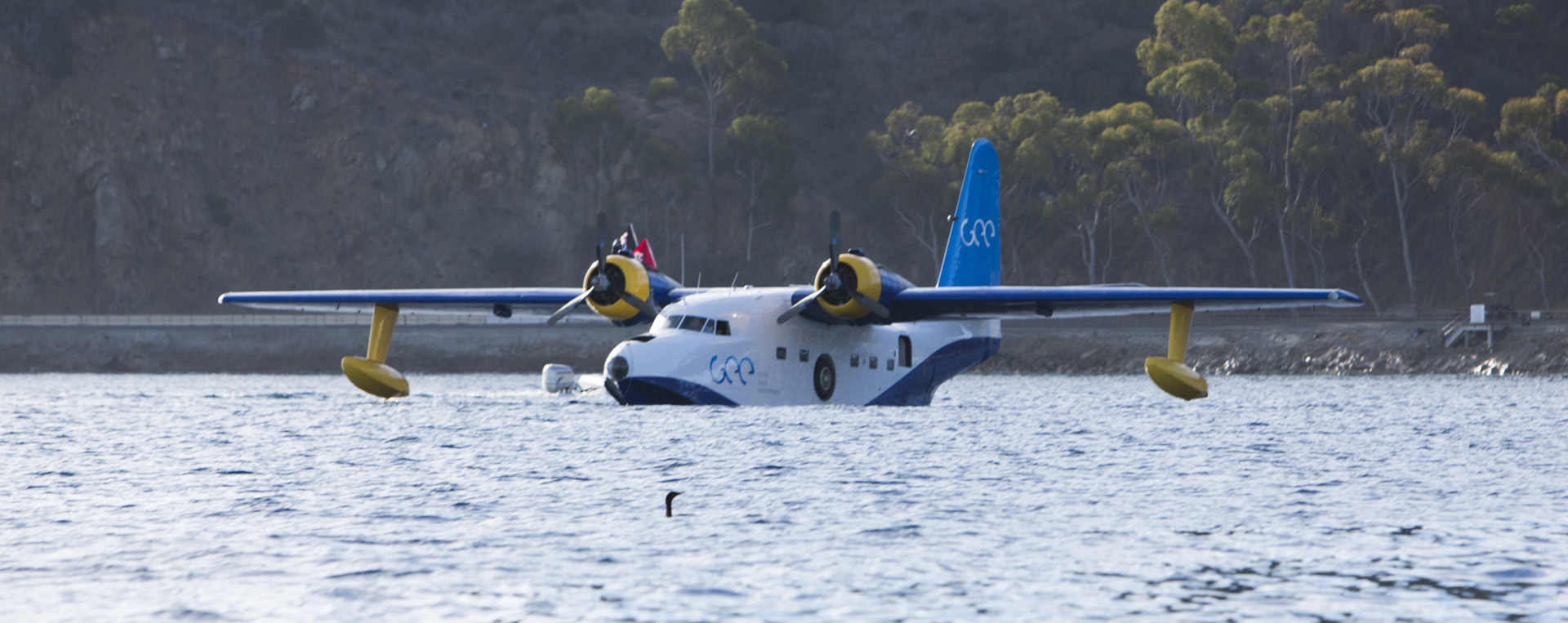 A Grumman Albatross bobbing in the waves at Avalon Harbor on Catalina Island. (image via Catalina Air Show)