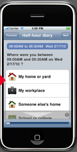 MBI iPhone diary