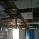 Offices being upgraded with new down lighting & fire alarm.