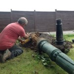 One of our Ground Workers Preparing the Victorian Lamp Post
