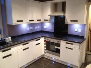Bespoke Kitchen installation with LED's