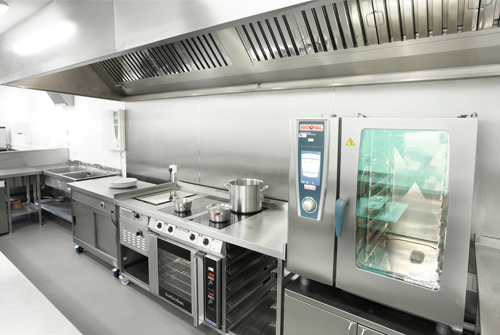 industrial kitchen hood in Are You Aware of the Dangers of Working in Commercial