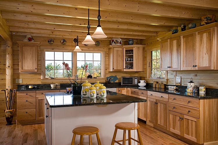 Log home kitchen photos dining rooms  Ward Cedar Log Homes